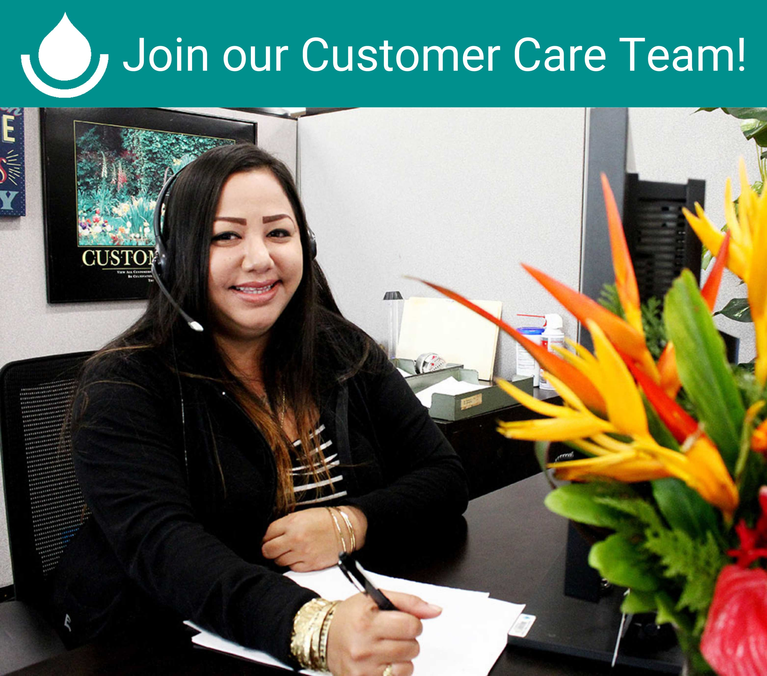 join our customer care team