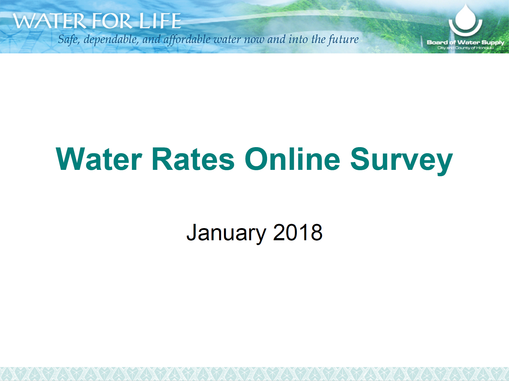 bws online water rates survey fall 2017