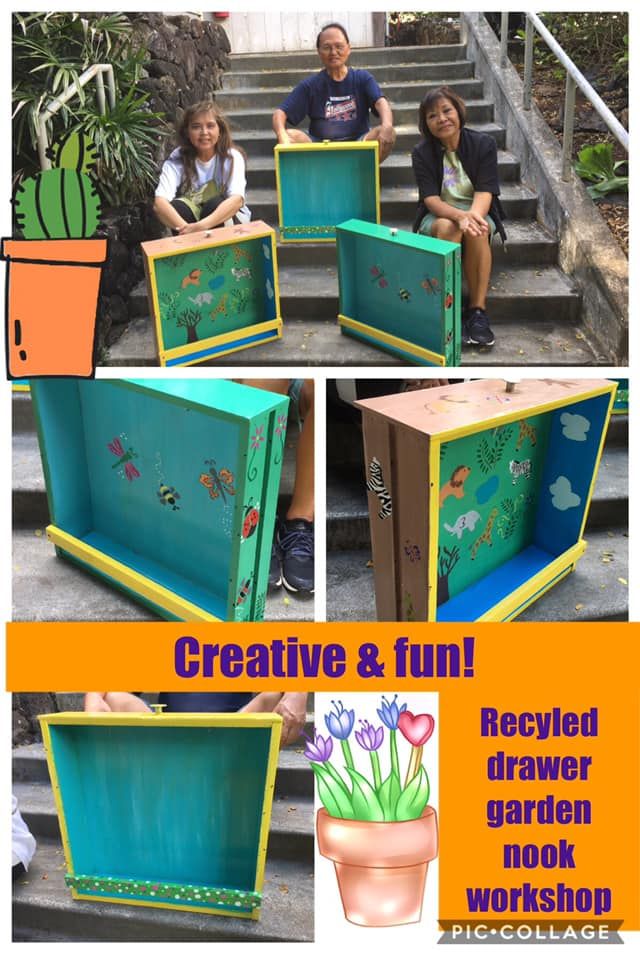 Recycled Drawer Garden Nook