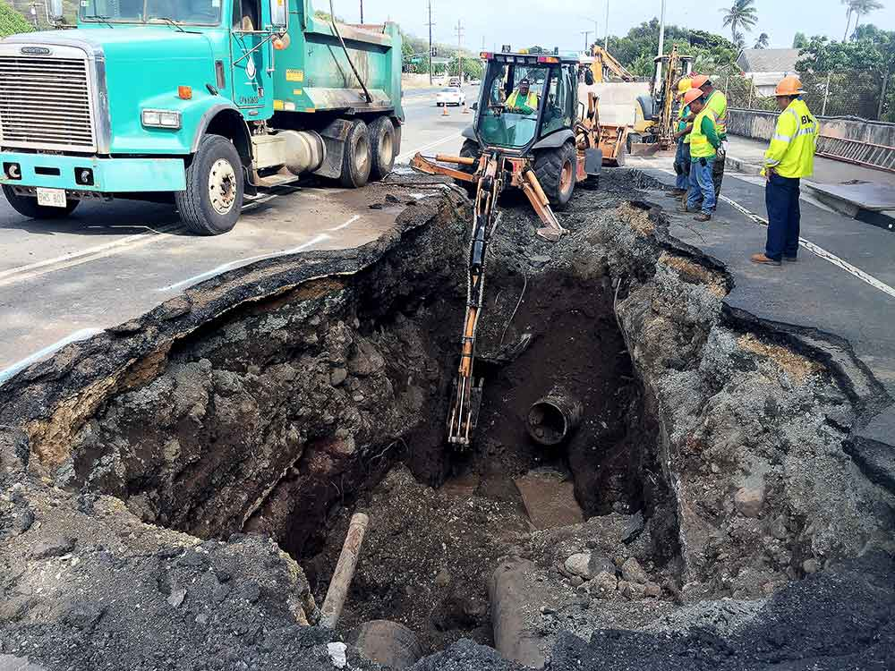 repair the water main