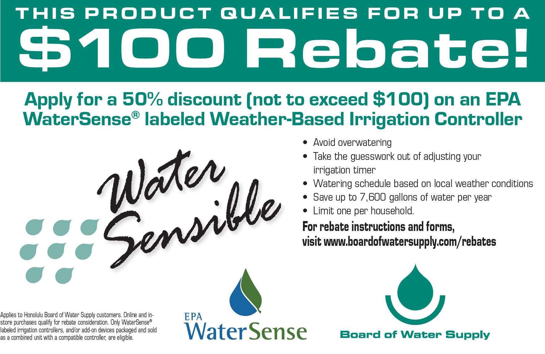 weather-based irrigation controller rebate