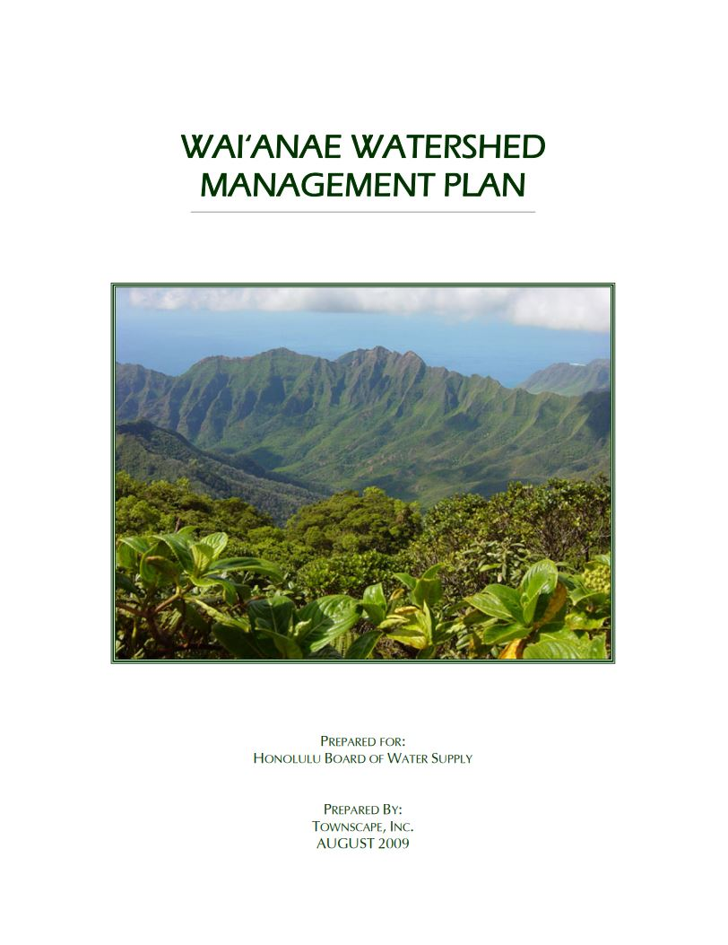 waianae watershed management plan