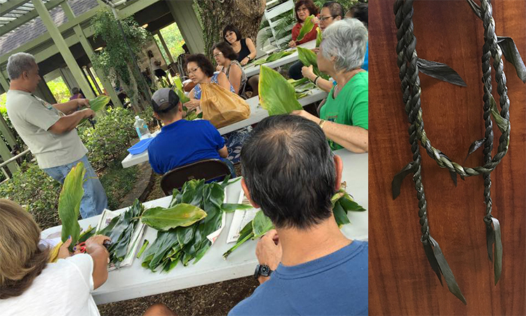 workshops make a ti-leaf lei