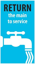 water main break return main to service